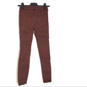 Free People Super Stretch Textured Skinny Pants
